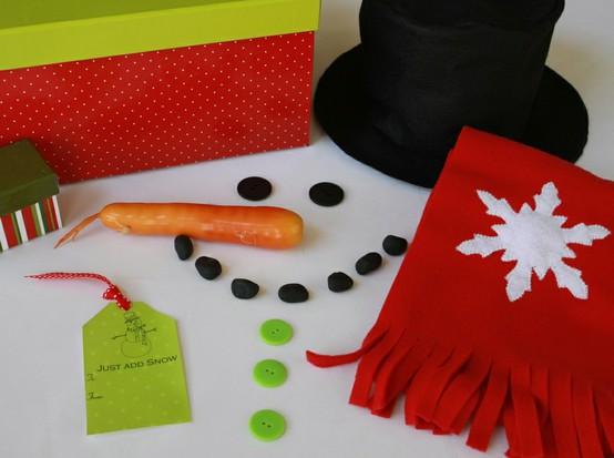 Snowman kit. From: http://pinterest.com/pin/170973512/