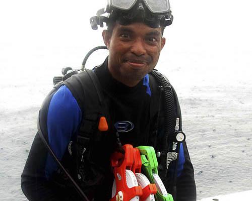 A well-prepared diver