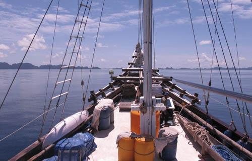Aboard the Putiraja