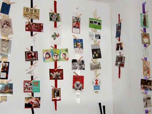 DIY: Holiday Card Display