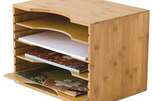 Bamboo paper organizer