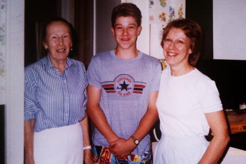Jon Schwedler and his grandmother